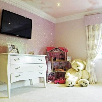 How To Use Glitter Wallpaper In A Child S Bedroom For Maximum Effect