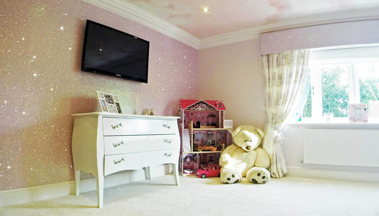 How to Use Glitter Wallpaper in a Child\'s Bedroom for ...